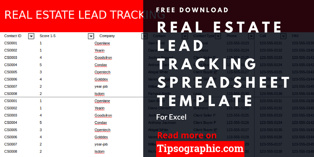 Crm Real Estate Lead Tracking Spreadsheet Template Excel