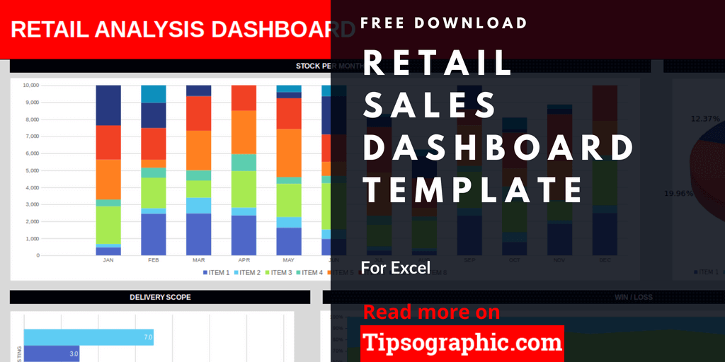 Retail Sales Dashboard Template for Excel, Free Download