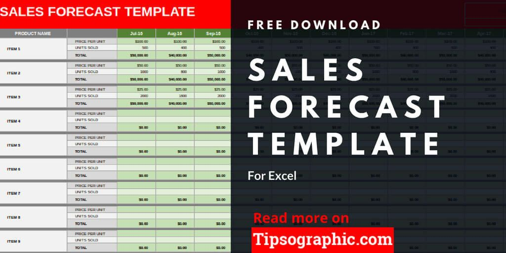 Sales Forecast Template For Excel Free Download Tipsographic