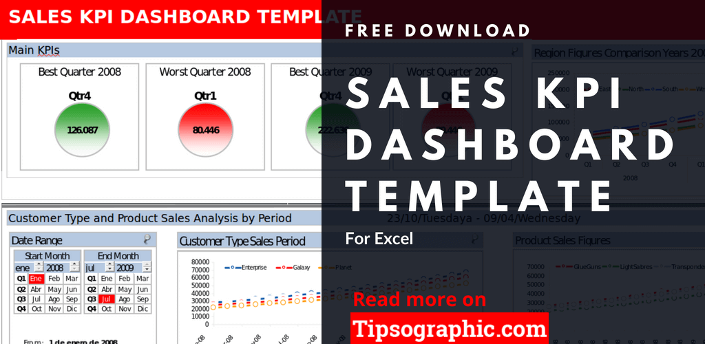 crm sales kpi dashboard template excel sales kpi dashboard excel free tipsographic thumb