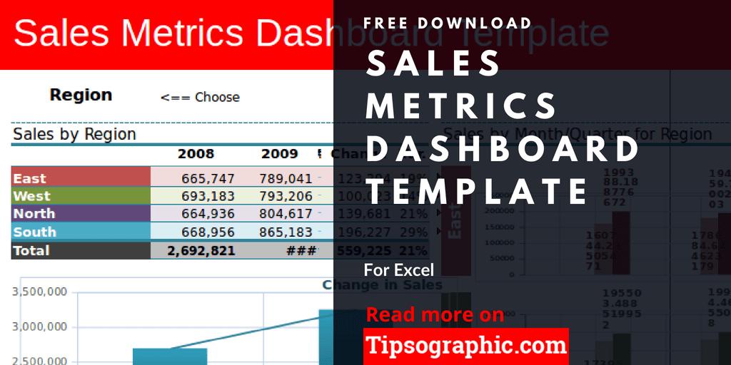 crm sales metrics dashboard template excel sales metrics dashboard excel template free tipsographic thumb