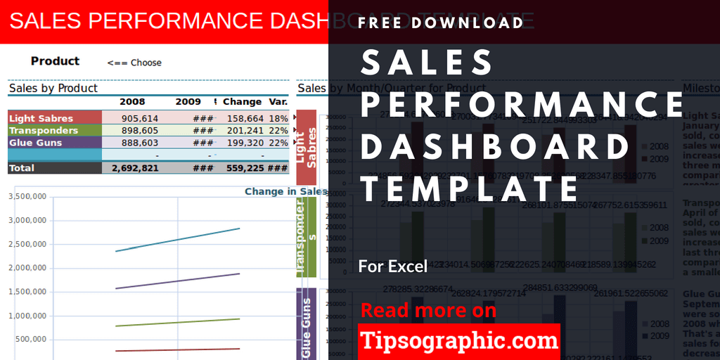 crm sales performance dashboard template excel sales performance dashboard excel free download tipsographic thumb