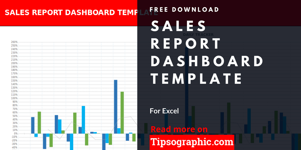 Sales Report Dashboard Template for Excel, Free Download | Tipsographic