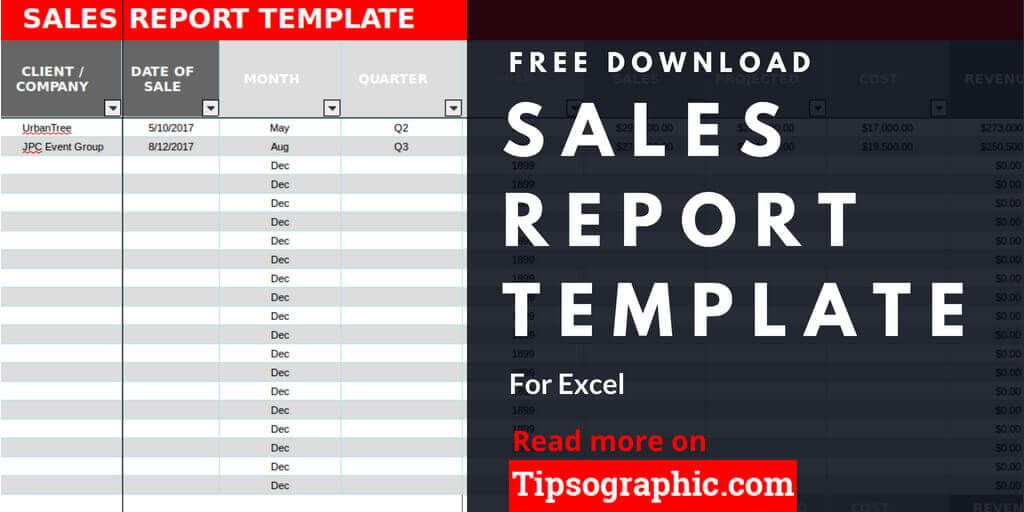 crm sales report template excel sales report excel template free download tipsographic