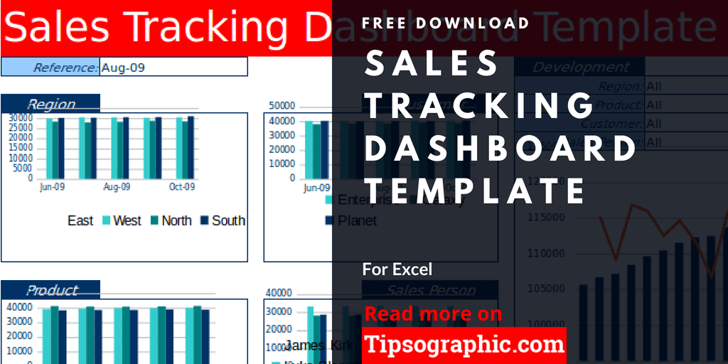 Sales Tracking Dashboard Template For Excel Free Download