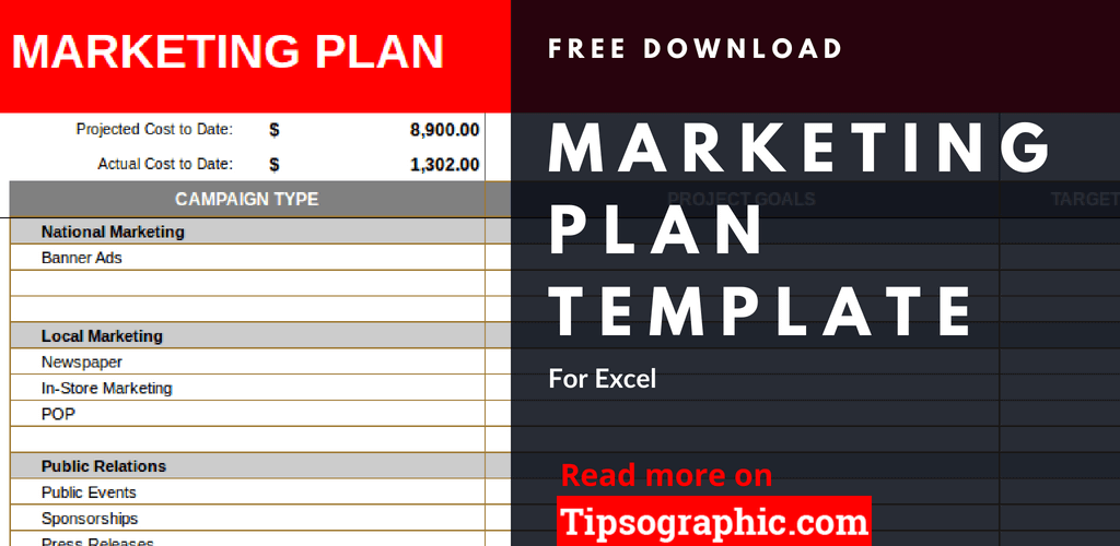 crm marketing plan template excel marketing plan excel template free download tipsographic