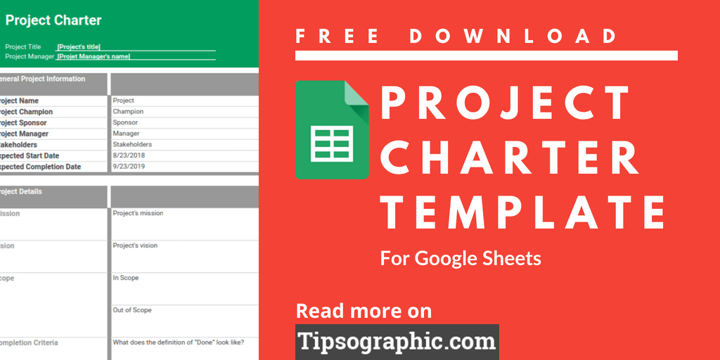 google sheets project charter template for agile pm free download