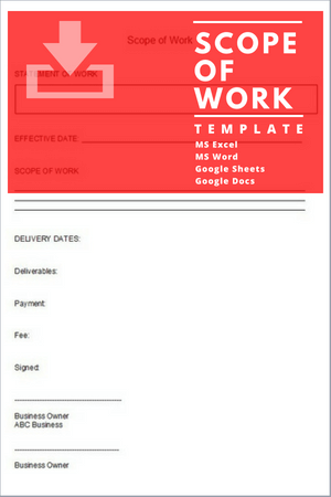 demolition scope of work template - statement of work project management template free